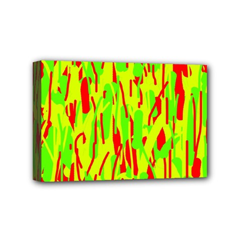 Green and red pattern Mini Canvas 6  x 4