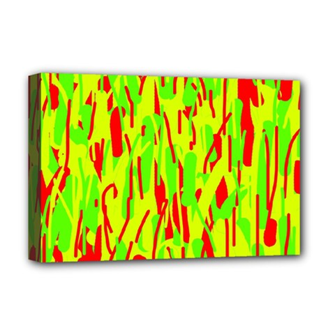 Green and red pattern Deluxe Canvas 18  x 12