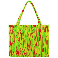 Green and red pattern Mini Tote Bag