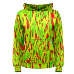 Green and red pattern Women s Pullover Hoodie