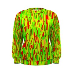 Green and red pattern Women s Sweatshirt