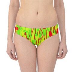 Green and red pattern Hipster Bikini Bottoms