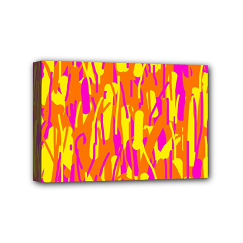 Pink and yellow pattern Mini Canvas 6  x 4