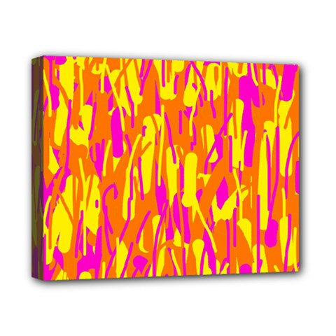 Pink and yellow pattern Canvas 10  x 8