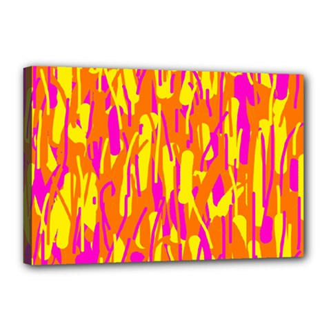 Pink and yellow pattern Canvas 18  x 12