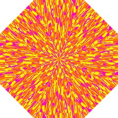 Pink and yellow pattern Straight Umbrellas