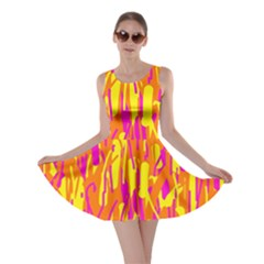 Pink and yellow pattern Skater Dress