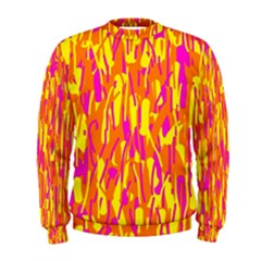 Pink and yellow pattern Men s Sweatshirt