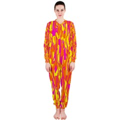 Pink and yellow pattern OnePiece Jumpsuit (Ladies)