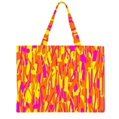 Pink and yellow pattern Large Tote Bag