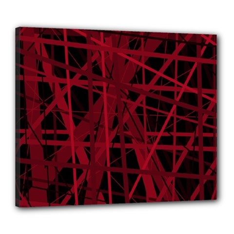 Black and red pattern Canvas 24  x 20