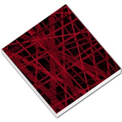 Black And Red Pattern Small Memo Pads