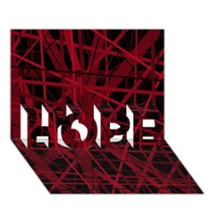 Black And Red Pattern Hope 3d Greeting Card (7x5)