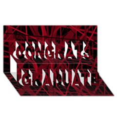 Black and red pattern Congrats Graduate 3D Greeting Card (8x4)