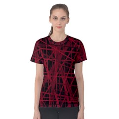 Black and red pattern Women s Cotton Tee