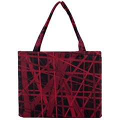 Black and red pattern Mini Tote Bag