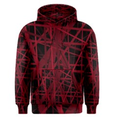 Black and red pattern Men s Pullover Hoodie