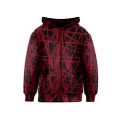 Black and red pattern Kids  Zipper Hoodie