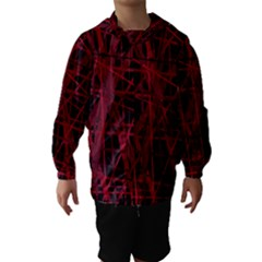 Black and red pattern Hooded Wind Breaker (Kids)