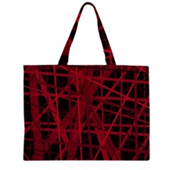 Black and red pattern Large Tote Bag