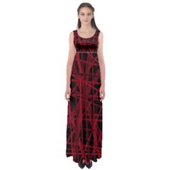 Black and red pattern Empire Waist Maxi Dress