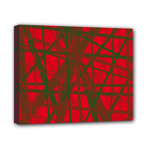 Red pattern Canvas 10  x 8