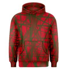 Red pattern Men s Pullover Hoodie