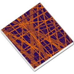 Blue and orange pattern Small Memo Pads