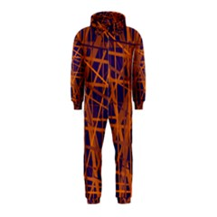 Blue and orange pattern Hooded Jumpsuit (Kids)