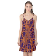 Blue and orange pattern Camis Nightgown