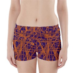 Blue And Orange Pattern Boyleg Bikini Wrap Bottoms