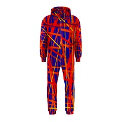 Orange and blue pattern Hooded Jumpsuit (Kids)