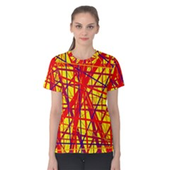 Yellow and orange pattern Women s Cotton Tee