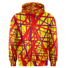 Yellow and orange pattern Men s Pullover Hoodie