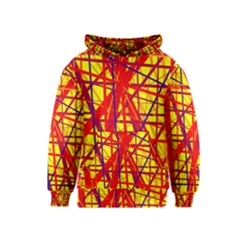 Yellow and orange pattern Kids  Pullover Hoodie