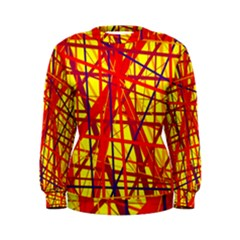Yellow and orange pattern Women s Sweatshirt
