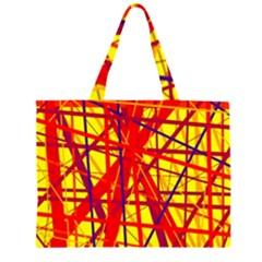 Yellow and orange pattern Large Tote Bag