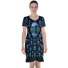 One Woman One Island And Rock On Short Sleeve Nightdress