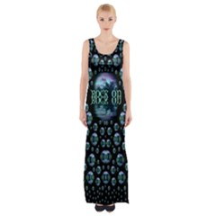 One Woman One Island And Rock On Maxi Thigh Split Dress