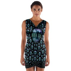 One Woman One Island And Rock On Wrap Front Bodycon Dress