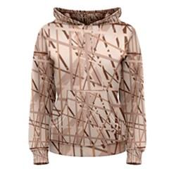Brown pattern Women s Pullover Hoodie