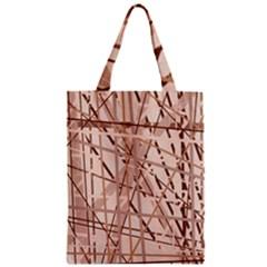 Brown pattern Zipper Classic Tote Bag