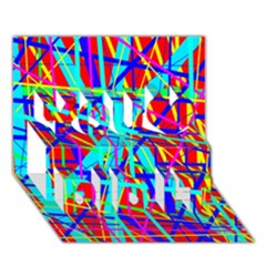 Colorful pattern You Did It 3D Greeting Card (7x5)
