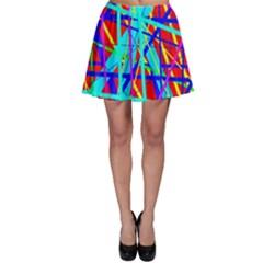 Colorful pattern Skater Skirt
