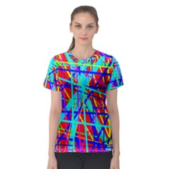 Colorful pattern Women s Sport Mesh Tee