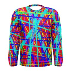 Colorful pattern Men s Long Sleeve Tee