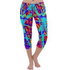 Colorful pattern Capri Yoga Leggings