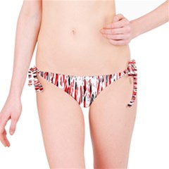Red, black and white pattern Bikini Bottom