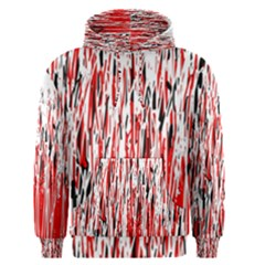 Red, black and white pattern Men s Pullover Hoodie