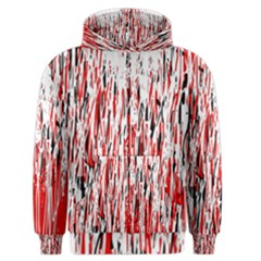 Red, black and white pattern Men s Zipper Hoodie